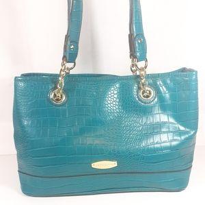 New Liz Claiborne Turquoise Purse Shoulder Bag
